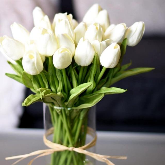 10 יח' פרחי טוליפ יוקרתיים מלאכותיים לבית 1