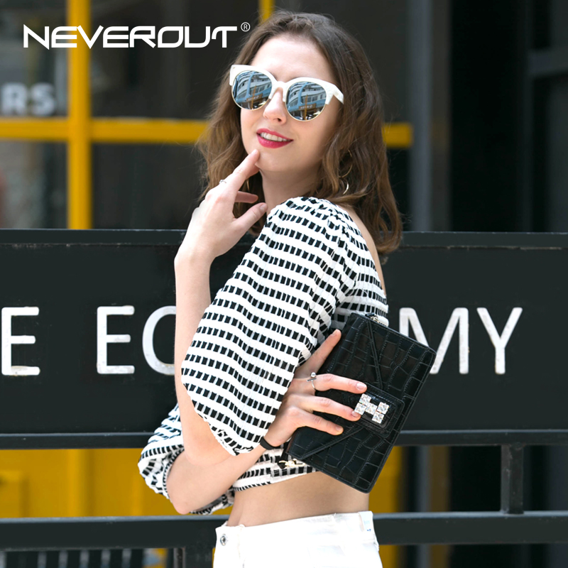 NEVEROUT Luxury Style Name Bag Women Shoulder Sac Split Leather Solid - Bolsos - foto 2