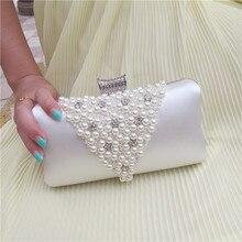 Perlen Frauen Abendtaschen Diamanten Neue Ankunft Kleinen Geldbeutel Tag Erfasst Handtaschen Rosa/Weiß Perle Hochzeit Taschen