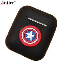 Antirr Cartoon Earphone Case For Airpods Silicone Shockproof Cover Luminous Protector Accessories