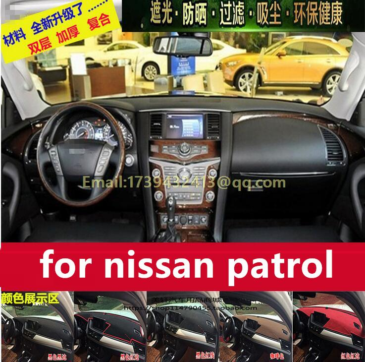 dashmat carpet Car dashboard covers Instrument platform pad for nissan patrol y62 2010 2012 2013 2014 2015 2016
