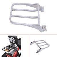 Chrome Motorcycle Sport Sissy Bar Backrest Rear Luggage Rack For Harley HD Sportster XL 04 17/ Dyna 06 17/ Softail 84 05 #58207