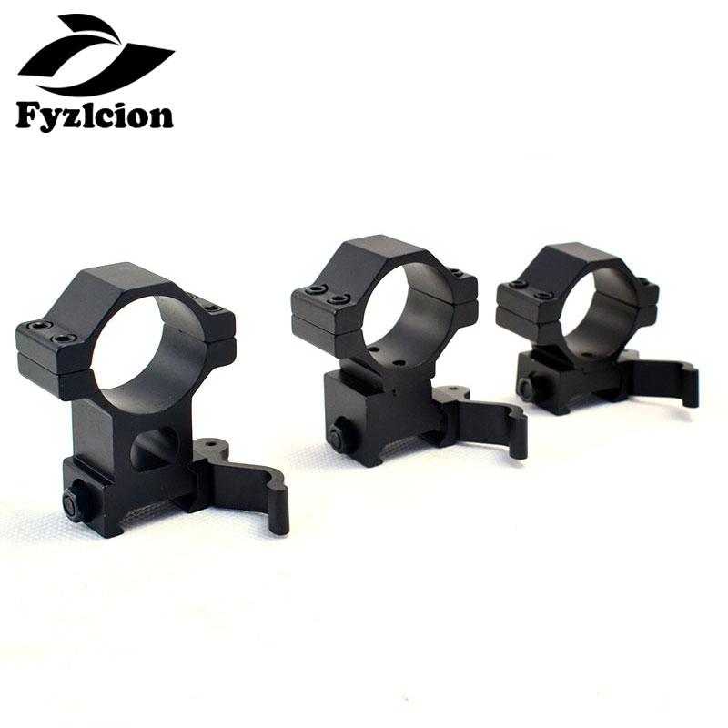 1pc Hunting QD Quick Release Scope Mount 30mm/25.4mm Ring Weaver Fits 20mm Rail Scope Mount Hunting Caza