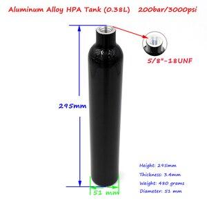 Image 4 - QUPB PCP Paintball Ausrüstung 0,38 L Gas Tank Druckluft Hochdruck Zylinder 3000PSI w/Regler 5/8 18UNF gewinde TKU038