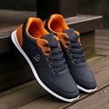 Nuevos 2016 Zapatos de Los Hombres Ata Para Arriba Diseñador de Moda de Primavera Otoño los hombres Zapatos Casuales Masculinas Al Aire Libre Calzado Para Hombres Trainer Negro azul