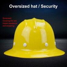 Emniyet kaskı Güneşlik Yağmur Geçirmez Geniş kenarlı Sert Şapka Emek sigorta Inşaat Iş Koruma Kask Logo Baskı Hizmeti