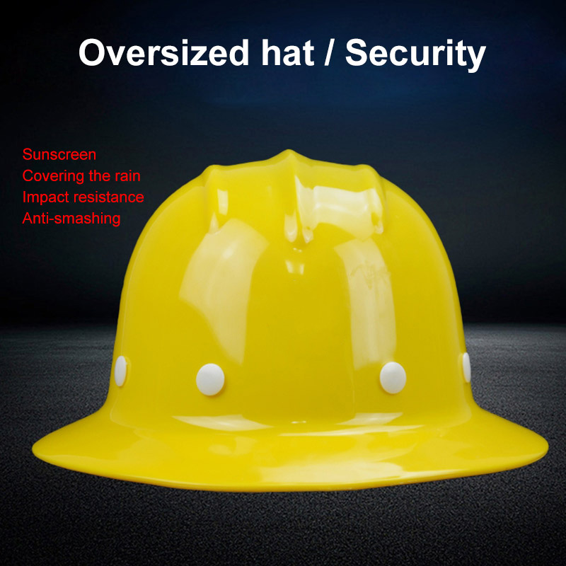 Safety Helmet Sunshade Rainproof Wide brimmed Hard Hat Labor insurance Construction Work Protection Helmet Logo Print Service-in Safety Helmet from Security & Protection