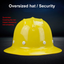 Safety Helmet Sunshade Rainproof Wide brimmed Hard Hat Labor insurance Construction Work Protection Helmet Logo Print Service