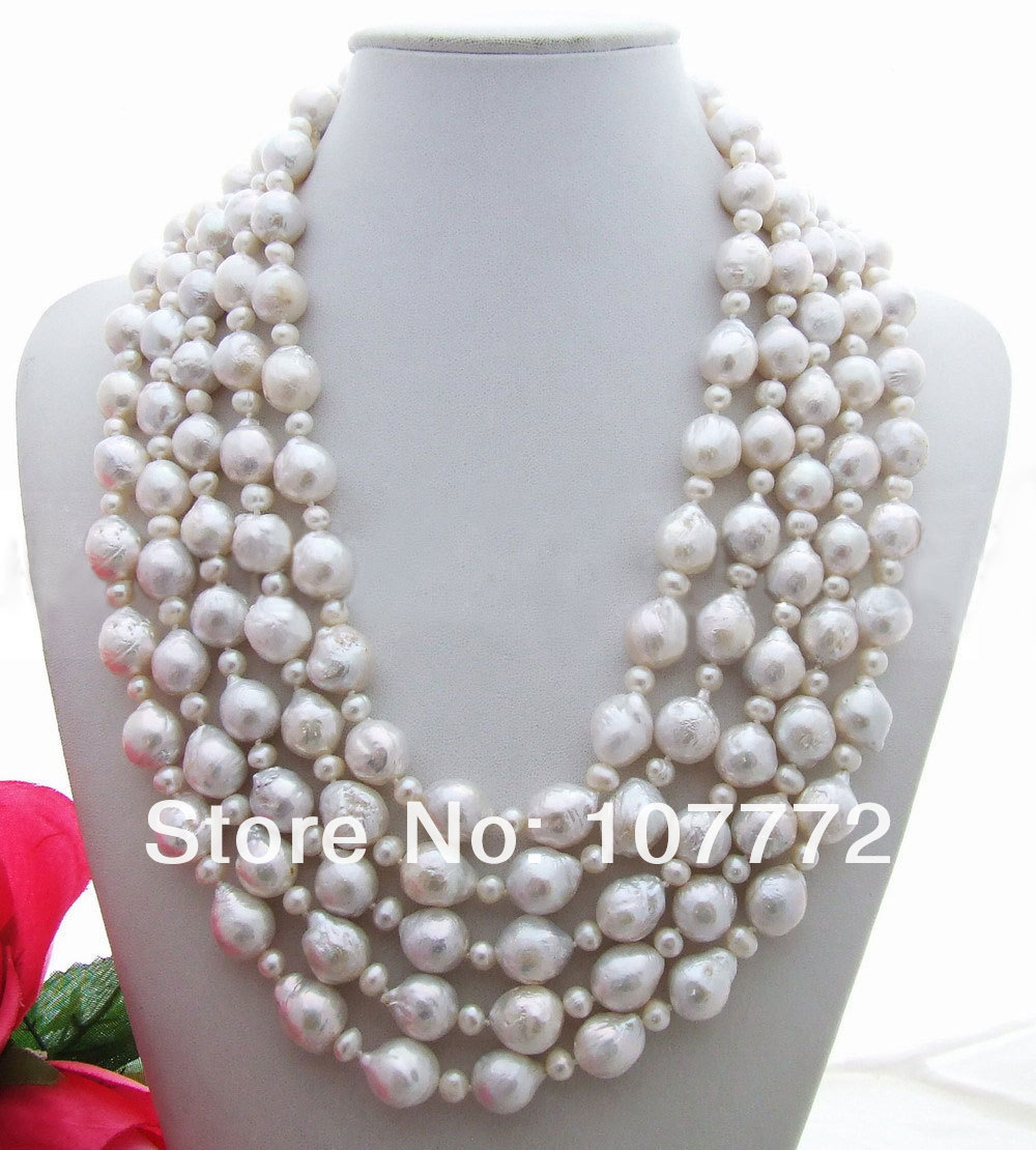Bead-Nucleated Pearl NecklaceBead-Nucleated Pearl Necklace