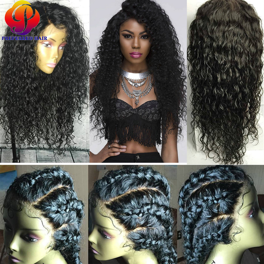 Momgolian Curly Lacefront Human Hair Wigs With Baby Hair