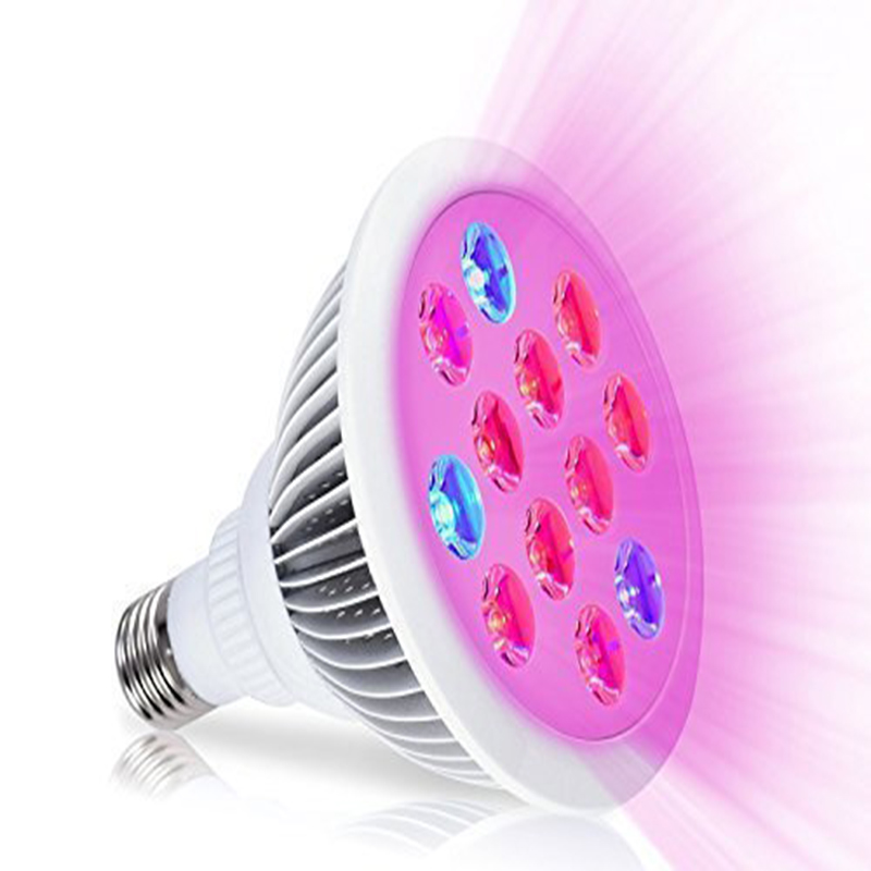 36W Grow Light Bulb E27/E26 Full Spectrum Ultra-Light Grow Lamp Red & Blue for Indoor Tent Plants Grow Led Light