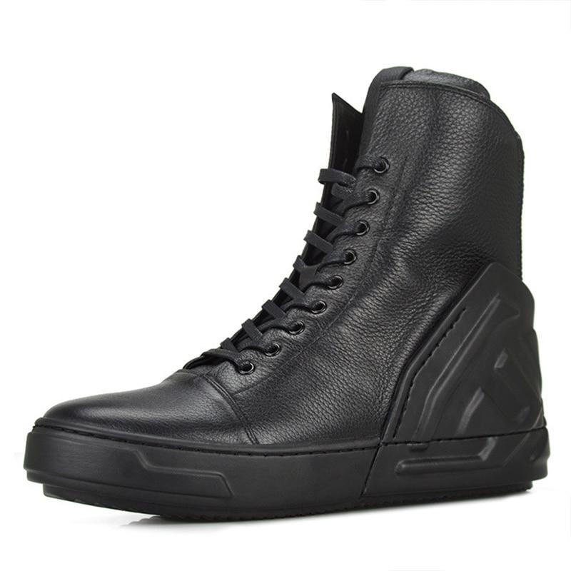 Real Blanco Hightop Bieber Krasovki Casual Hombres Boot High Cuero Altura Negro Masculina Calzado Moda Top Tenis Trainers Shoe bai Bambas Hei d0SdIw
