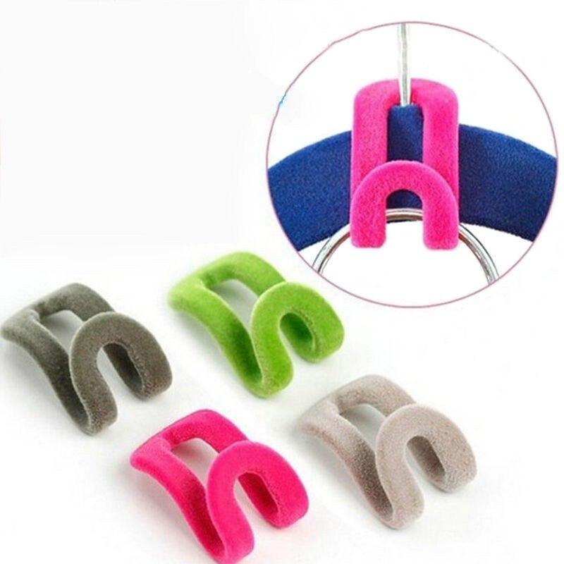 10 предметов/пакет мини Флокирование вешалка для одежды легко крюк гардероб Творческий органайзер для хранения одежды колышки