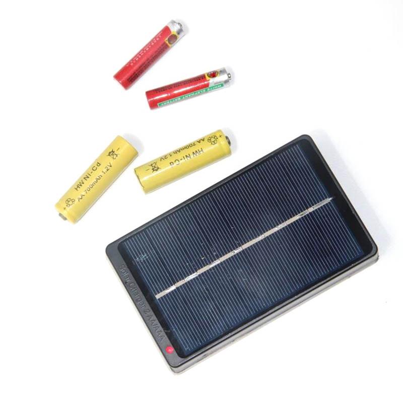 Camping & Hiking Outdoor Tools 1w 4v Solar Panel Battery Charger Box For 2*aa/aaa 1.2v Batteries Power Supply For Home Outdoor B2cshop Long Performance Life