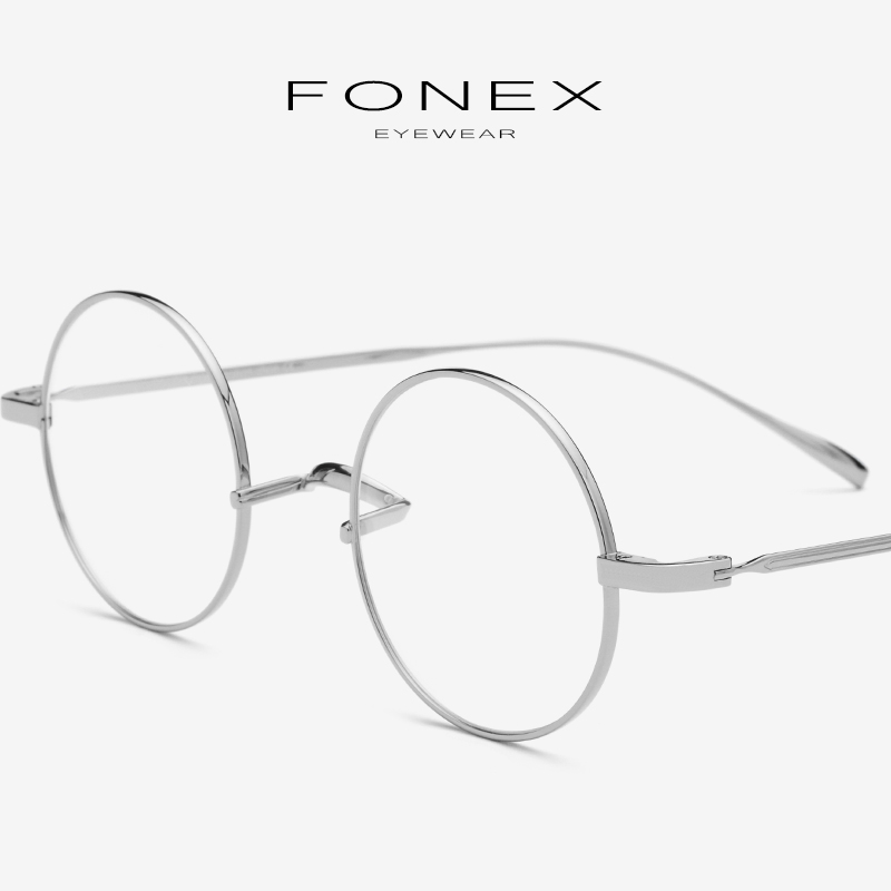 B Titanium Eyeglasses Frame Men 2019 Ultralight Small Round Myopia Optical Prescription Glasses Frame Women Vintage