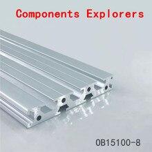 Произвольная резка 1000 мм 15100 алюминиевый экструзионный профиль, серебристого цвета