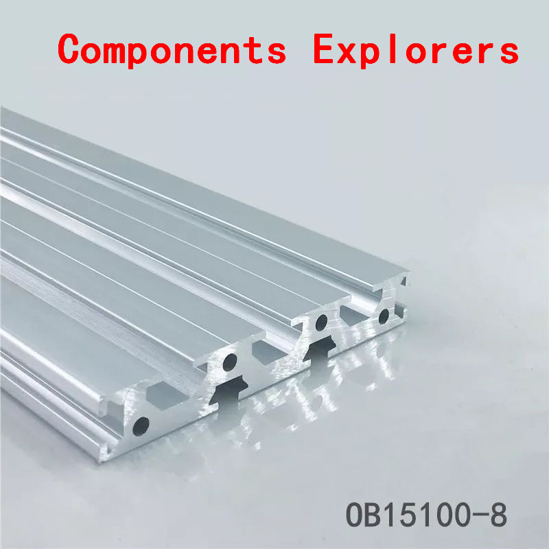 Arbitrary Cutting 1000mm 15100 Aluminum Extrusion Profile,Silvery Color.