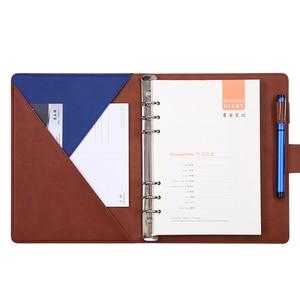 Image 2 - Cahier à feuilles amples, fournitures de bureau, Notes de réunion, Notes de collège, agenda des étudiants, A5, cahier amovible