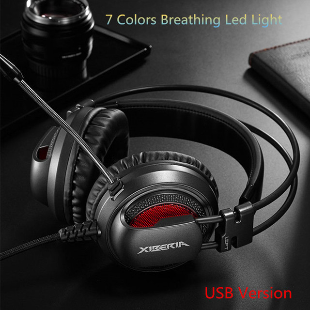 Xiberia V10 Gaming Headphones USB 5