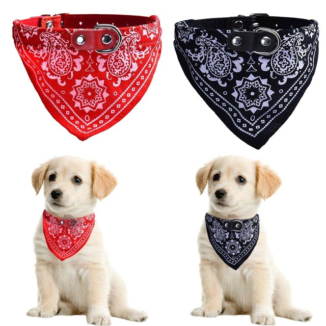 Gato perros Collar ajustable del perrito del pañuelo corbata ...