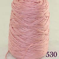 1X400g soft sell high quality 100% cotton hand woven yarn Coral Pink cone 422 530