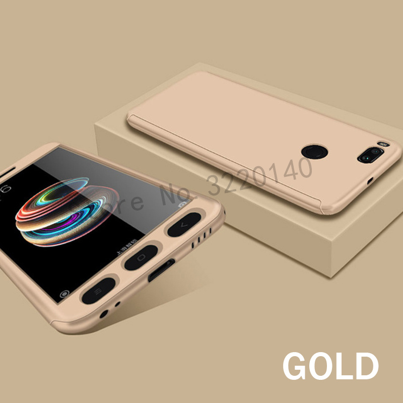360 Degree Full Cover Cases For Xiaomi MI A1 mi 5x case Phone shell For Xiaomi redmi Note 4 4X case For redmi 4A 4X With Glass10