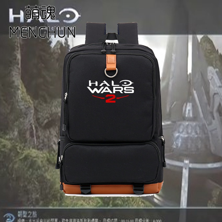 New game Halo props Halo wars 2 new printing backpacks Halo backpacks big nylon school bag NB120
