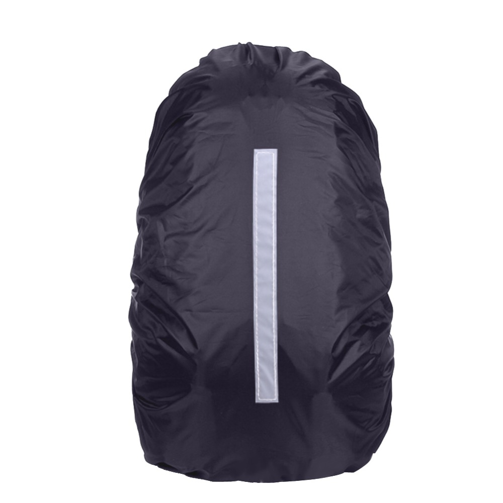 Unisex Reflektif Kalis Air Nylon Soft Backpack Rain Cover Debu Rain Bag Perlindungan Camping Waterproof Cover Keselamatan Travel Bags Kit