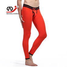 Sexy Open Bulge Thermal Underwear Modal Men Long John Pants Leggings W