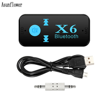 Adaptador Bluetooth, 3 en 1 inalámbrico 4,0 receptor USB con Bluetooth de Audio de 3,5mm AUX Jack estéreo de lector de tarjetas TF micrófono para coche hablar