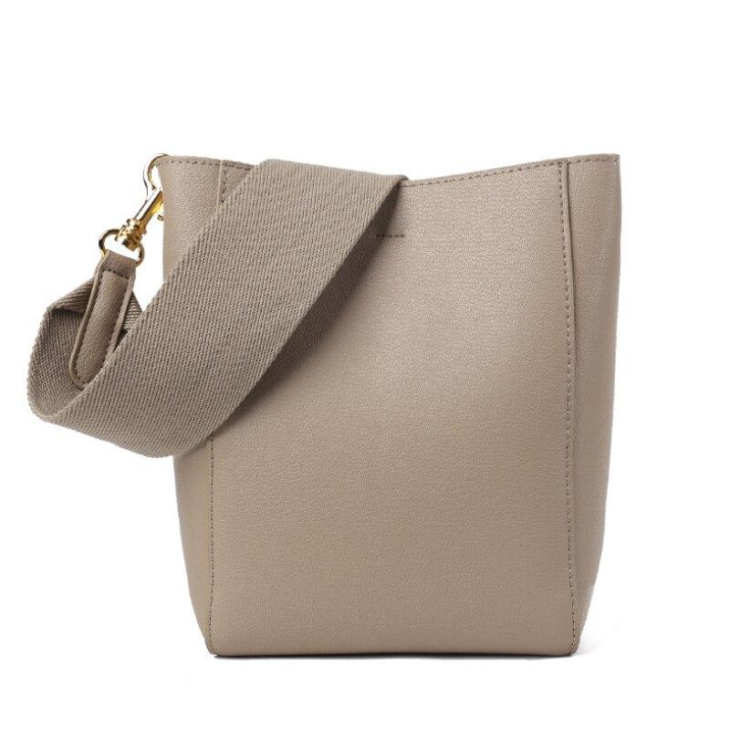 Buyuwant ของแท้กระเป๋าหนังกว้างสายคล้องกระเป๋าหนังผู้หญิงกระเป๋าถือขนาดใหญ่ความจุกระเป๋า GN   SB   zpdldj-ใน กระเป๋าสะพายไหล่ จาก สัมภาระและกระเป๋า บน   1