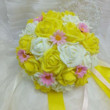 Buy Yellow Rose Bridal Bouquet And Get Free Shipping On Aliexpresscom