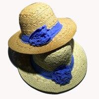 Şapka Kadın Yaz 2016 Moda Disket Şapka Çiçek Patchwork Sunhat Kızlar Yaz Plaj Yan Anti-Uv Kap Gorros Katlanabilir