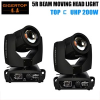 TIPTOP 2XLOT 16CH 200W 5R Beam Moving Head Stage Light 8000K Indoor Rotating Stage Light TP 5R TFT DISPLAY Roller Setting ROHS