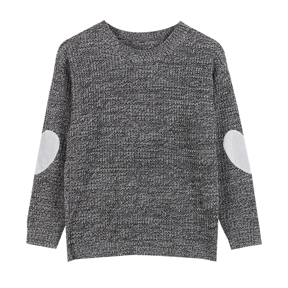 Winter Women Long Sleeve Love Heart Knitted Sweaters Grey Pink ...