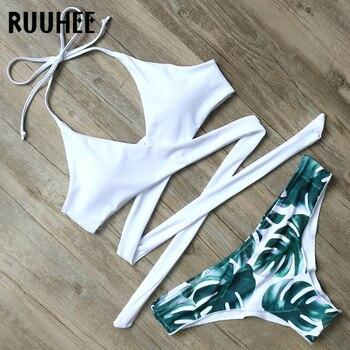 RUUHEE Bikini Set Swimsuit Swimwear Women Bikini Sexy Bandage Beachwear Padded Bathing Suit Push Up 2018 Swimming Suit For Women