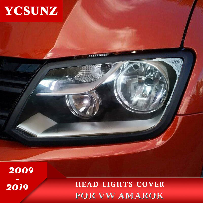 Headlight Covers Surrounds Trim for vw amarok 2009 2010 2011 2012 2013 2014 2015 2016 2017 2018 2019 ABS