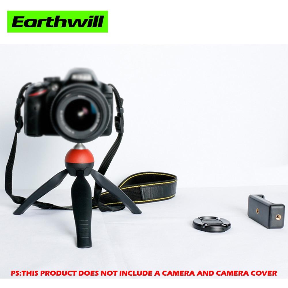 Professional Portable Travel Aluminium mini table tripod  Accessories DSLRs Camera hones Plastic aluminum alloy sphere