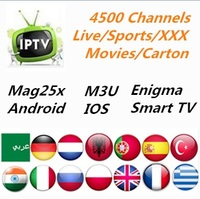 USB 12 Month IPTV Power 4500 Channels Arabic Pakistan Turkish Sports IPTV Subscription Code LiveTV