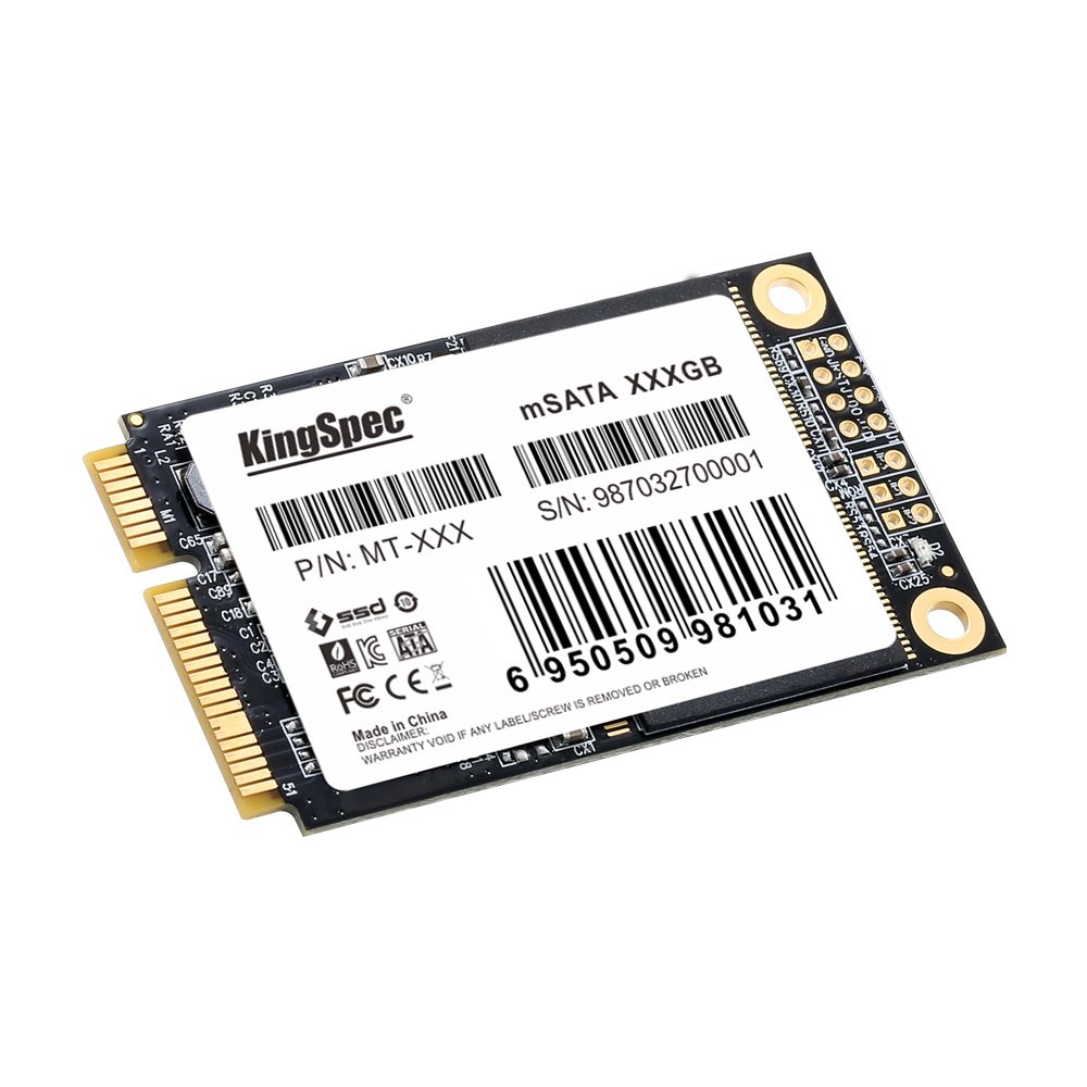 MT-512 KingSpec 3,5 GB mSATA Disco Duro SSD para ordenador portátil 1,3mm 512