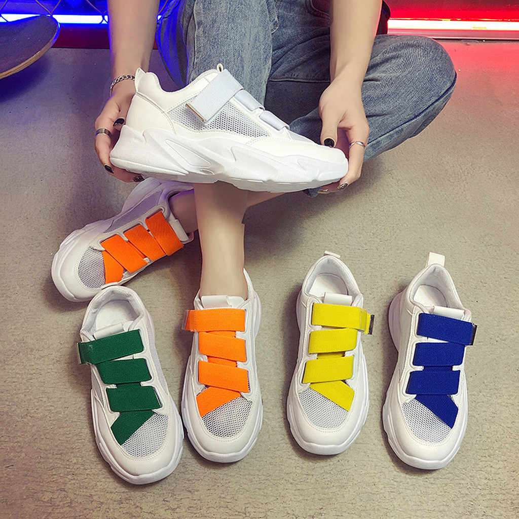 women sneakers platform shoes ladies chunky Muffin Bottom Casual Shoes Fashion Stitching Platform Sneakers #XTN