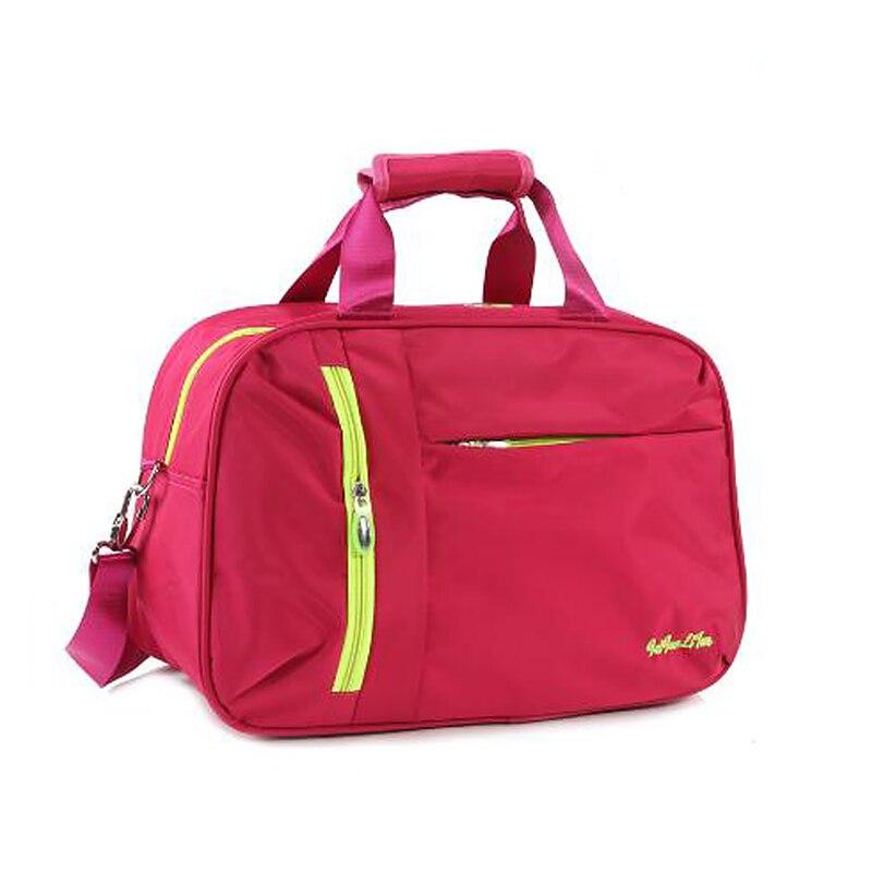 Wobag New Nylon Casual Solid Color Luggage Tote Bag Waterproof Women Travel Bags Men PortableTravel Duffle Bag