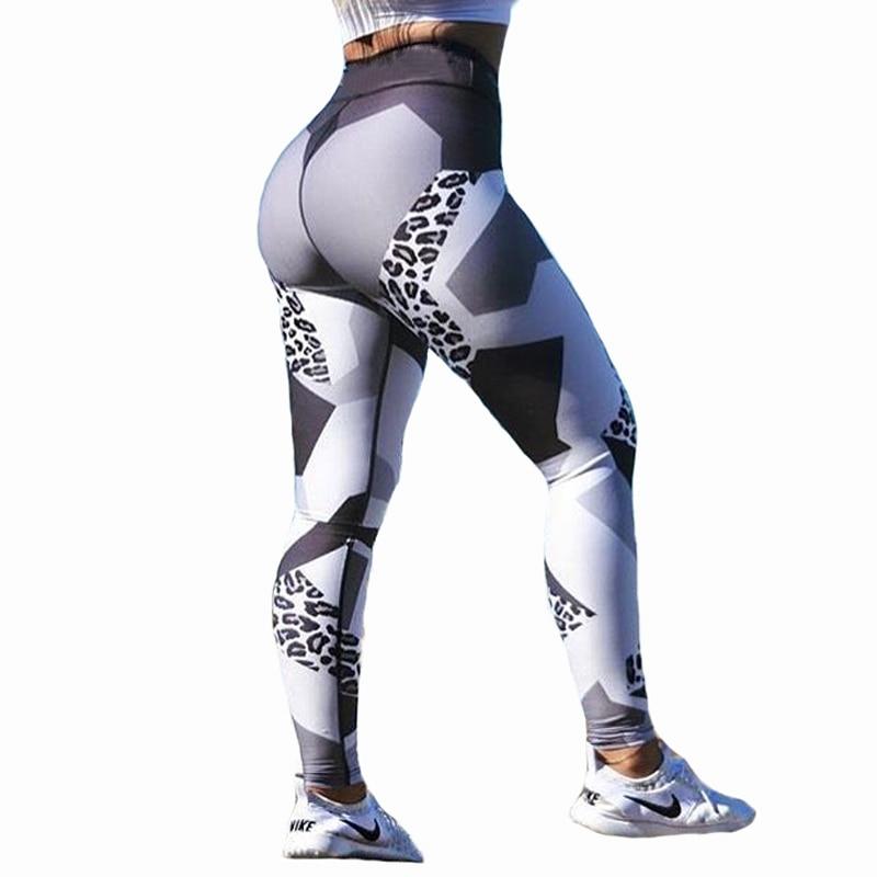 Leopard Print Workout Leggings Women Fitness High Elastic Skinny Pants Fitness Clothing For Women Push Up Workout Leggings CK31