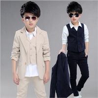 Boys 3Pieces Suits For Weddings Kids Prom Suits Wedding Clothes for Boys Children Clothing Sets Boy Classic Costume Boys Dresses