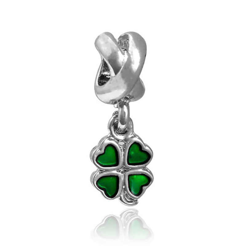 green white beads Charm Fits Pandora silver 925 original Bracelet charms jewelry valentine's day mary poppins bijoux Dgb129