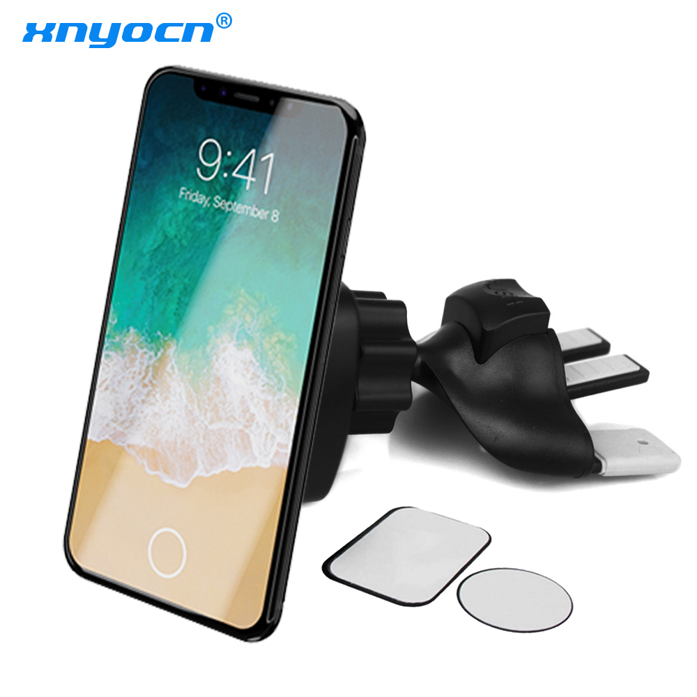 360 Degree Rotation Magnetic Car Phone Holder for iPhone 7 XS Car CD Slot Air Vent Mount Stand Bracket for Samsung Huawei Honor