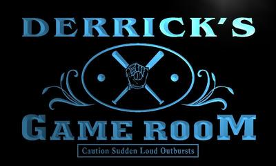 x0176-tm Derricks Game Room Baseball Custom Personalized Name Neon Sign Wholesale Dropshipping On/Off Switch 7 Colors DHL
