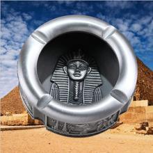 Европейский круглая металлическая Пепельница роскошные сигарная пепельница, для курения лоток карманная пепельница египетского Декор пепельница на открытом воздухе AT017