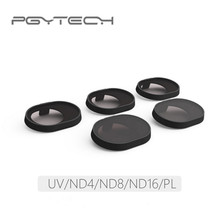 5pcs/Set PGYTECH Original Lens Filters (UV ND4 ND8 ND16 CPL) For DJI SPARK Accessories Drone