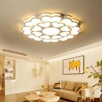 Затемнения Современные светодиодные светильники потолочные AC85 260V потолочный светильник для Гостиная внутреннего освещения Спальня Кухня